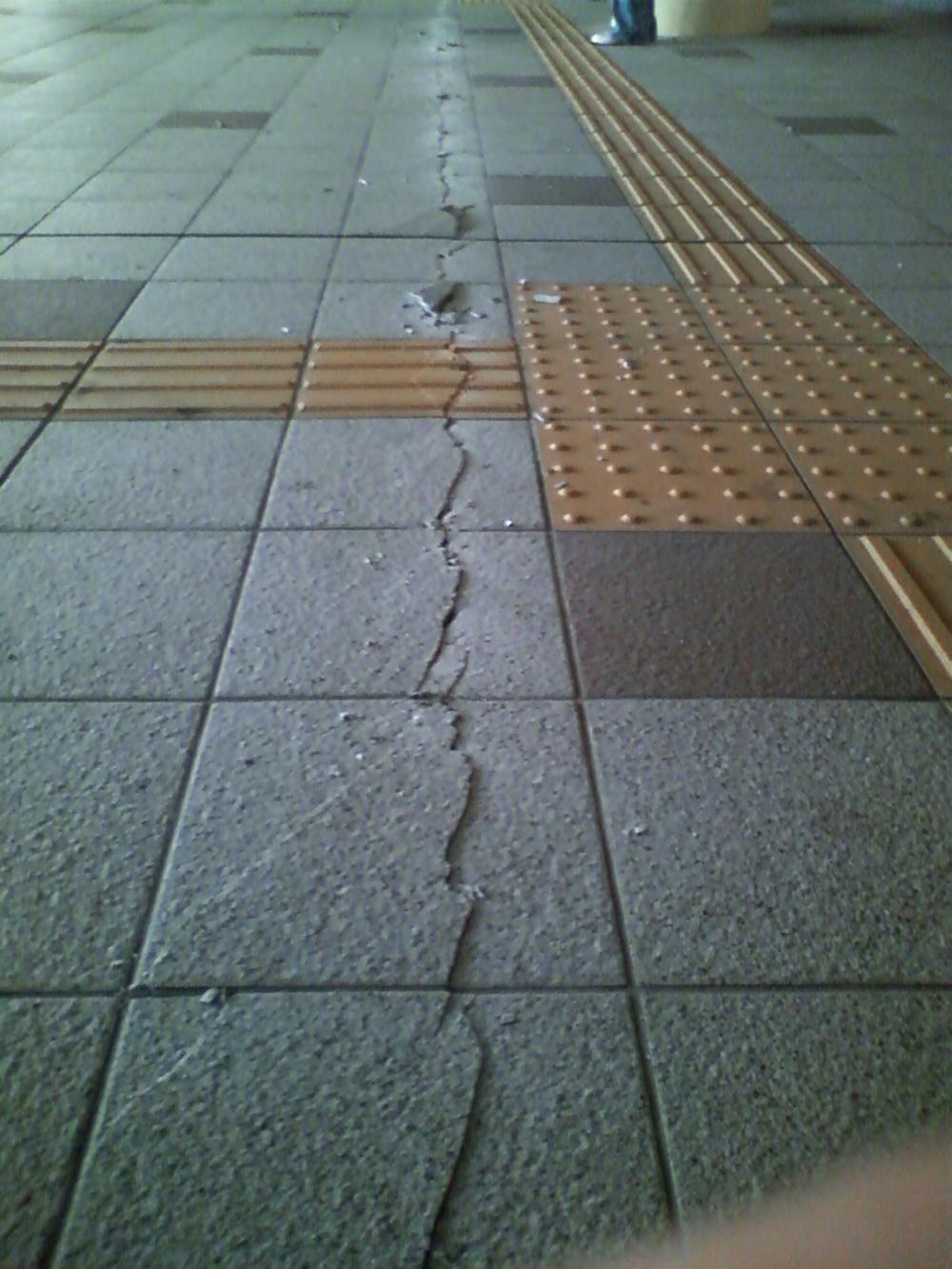 震災発生直後の仙台駅前〜五橋〜越路