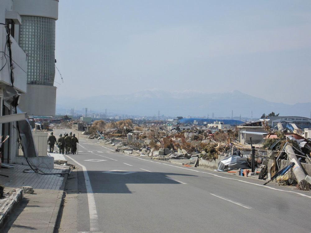 2011年4月18日仙台市若林区荒浜
