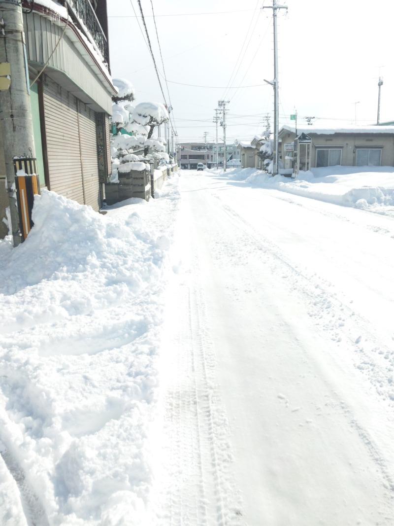 3月18日降り積もった雪