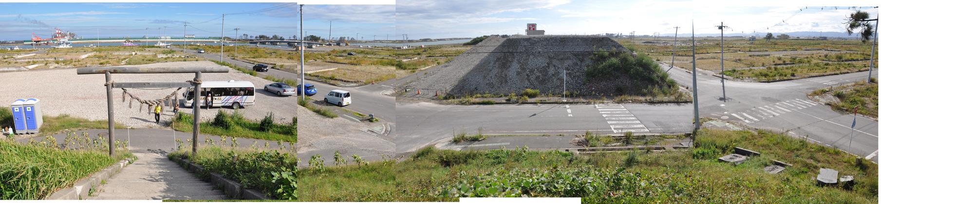 閖上日和山定点観測(東南東-西南西)2012年9月