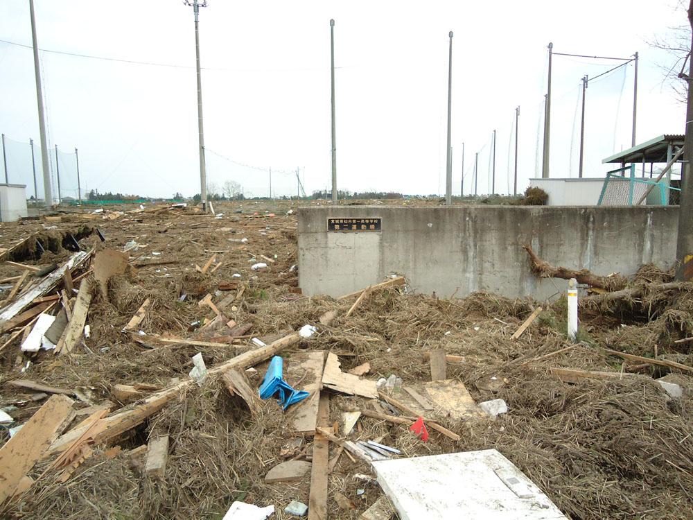 2011年3月14日仙台市若林区荒井