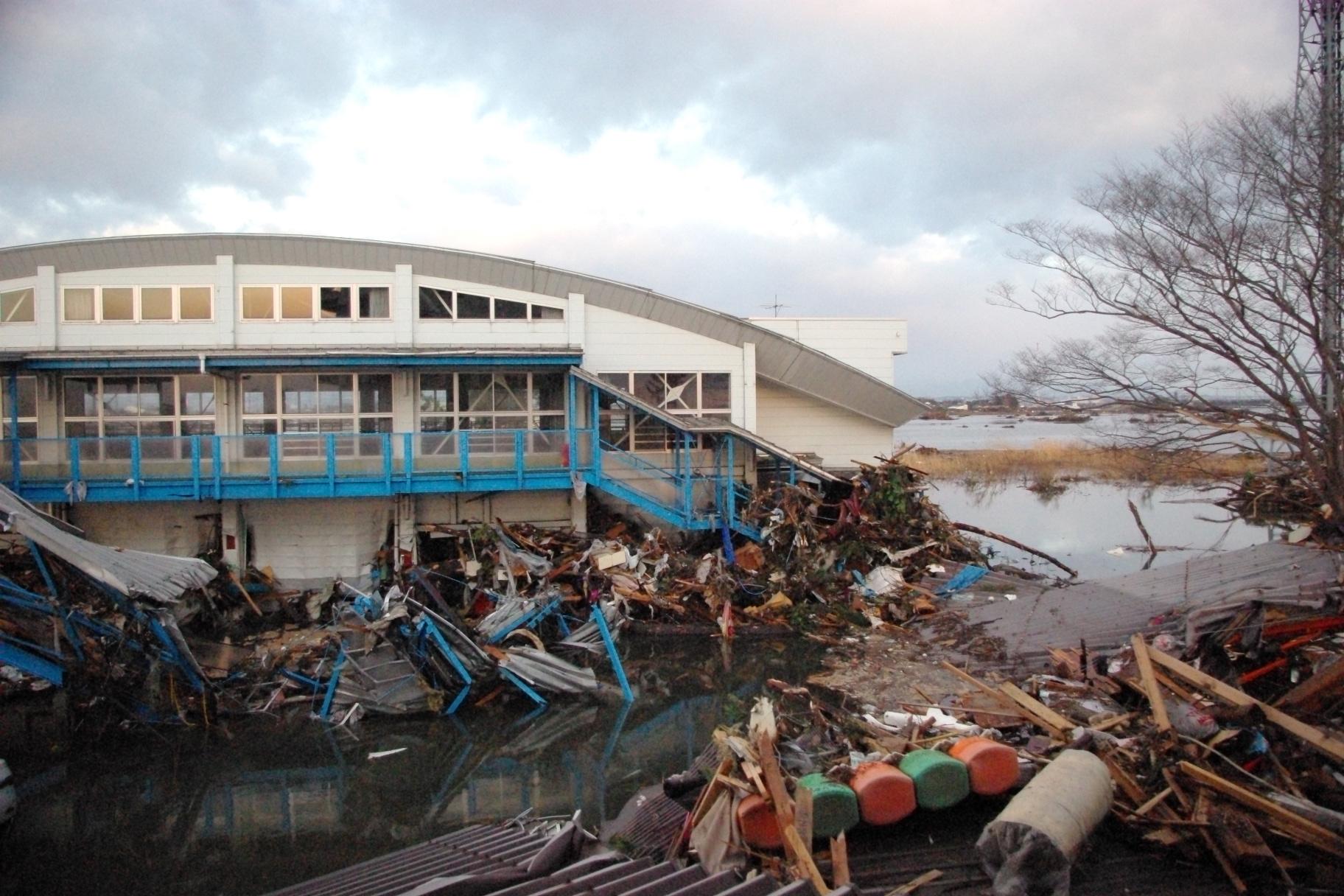 仙台市立荒浜小学校定点観測写真18〈体育館〉