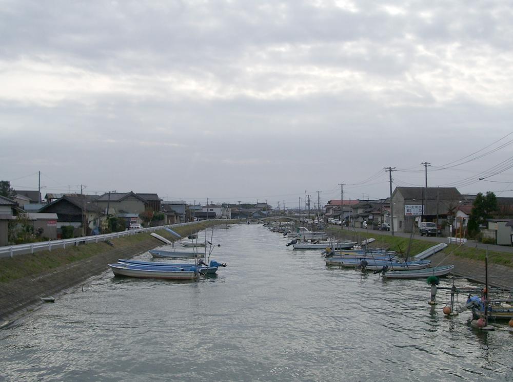 震災前と後の風景〈名取市閖上〉