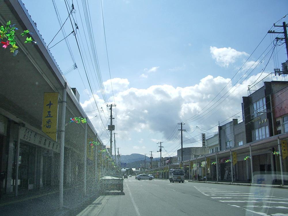 2006年9月陸前高田市中央商店街