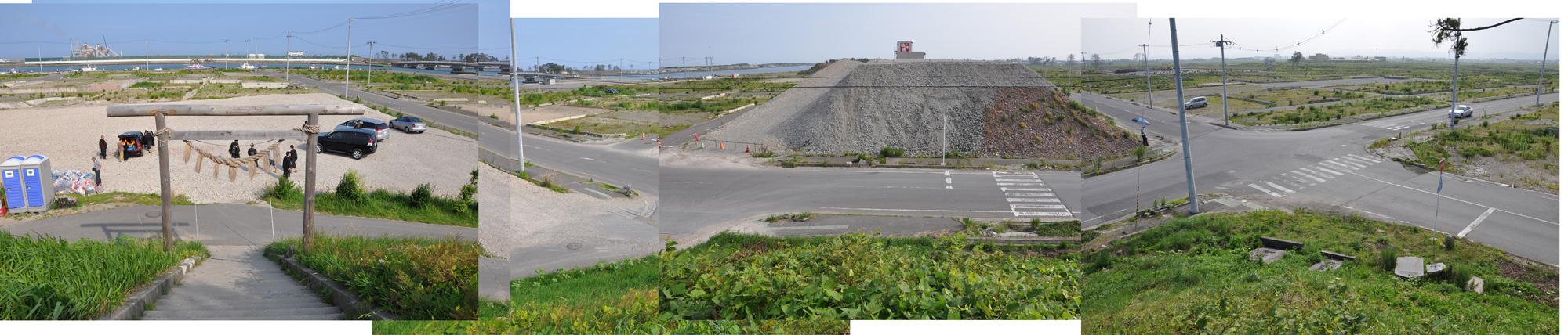 閖上日和山定点観測(東南東-西南西)2012年7月