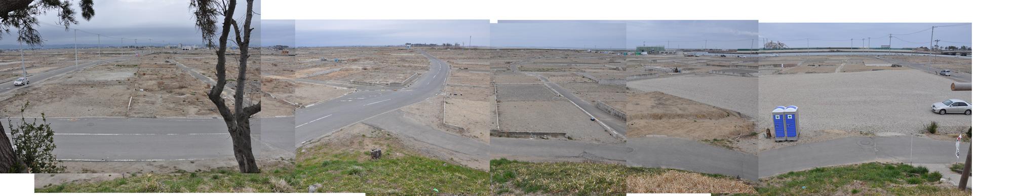 閖上日和山定点観測(西北西-東南東)2012年4月