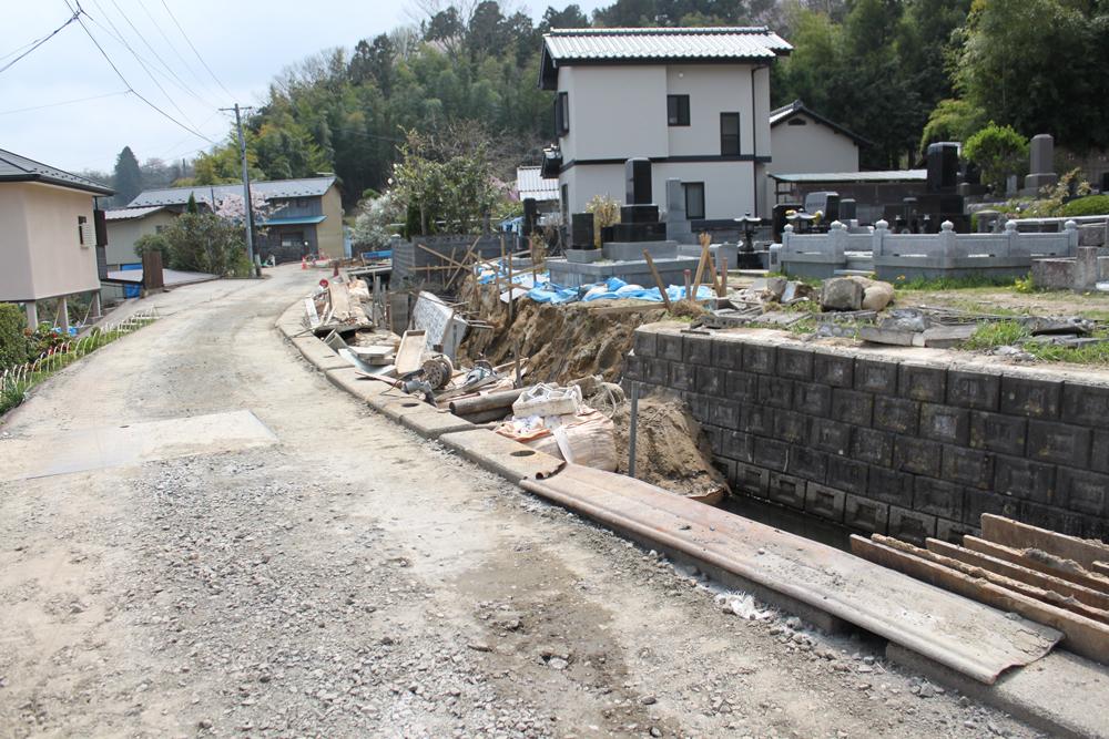宮城県白石市の地震被害と復旧のようす