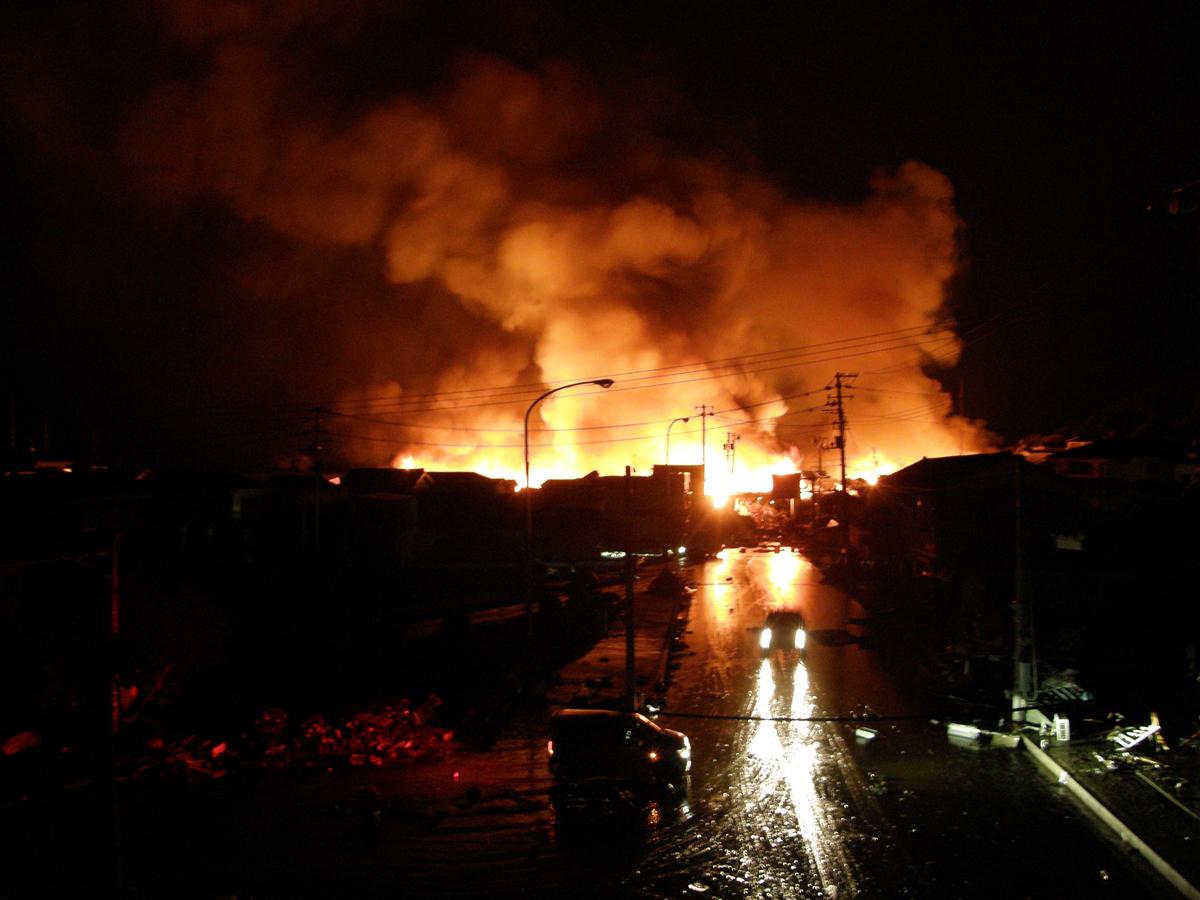 震災当日の気仙沼、仙台の小学校避難所での記録