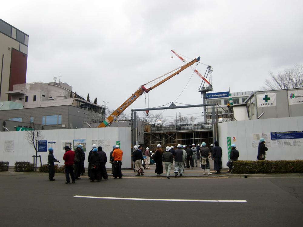 震災当日、太白区役所周辺を徒歩でパトロール