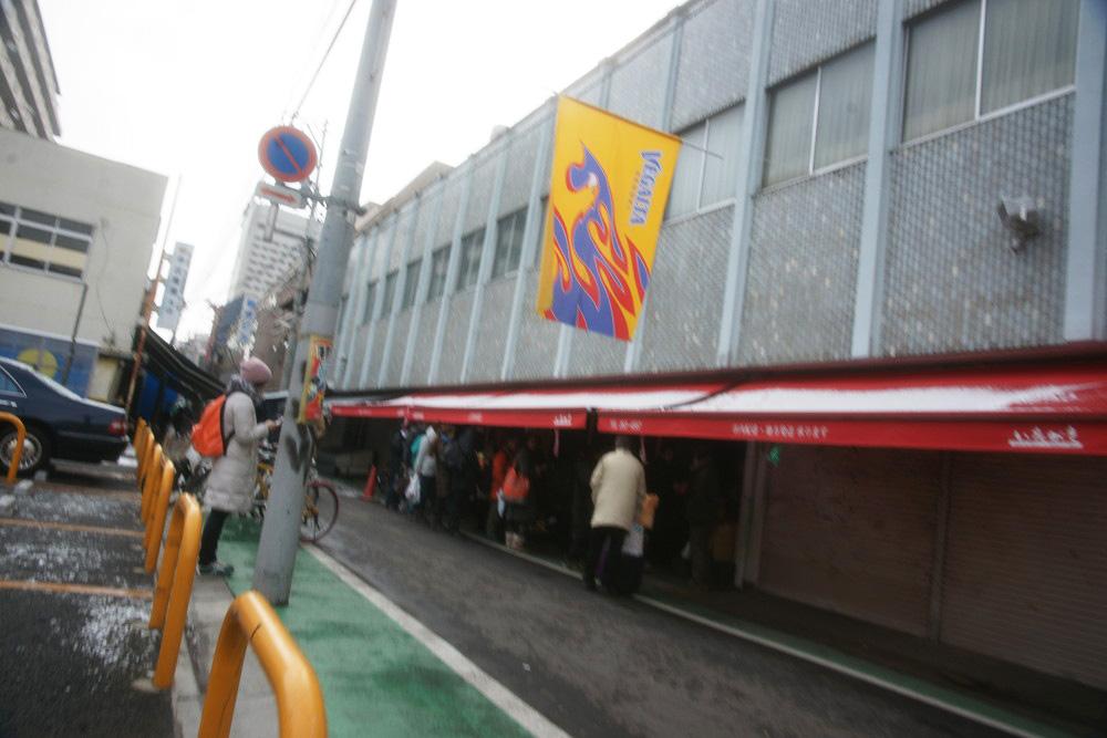 震災翌日に営業していた仙台朝市の青果店