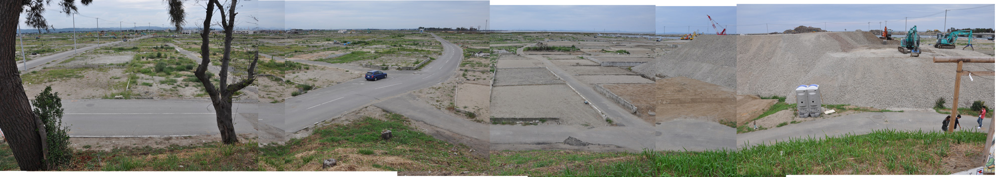 閖上日和山定点観測(西北西-東南東)2011年8月