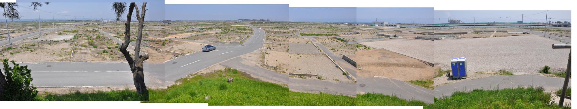 閖上日和山定点観測(西北西-東南東)2012年5月