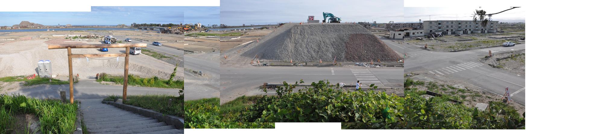 閖上日和山定点観測(東南東-西南西)2011年7月