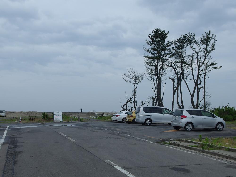 松葉林もバスの回転場も津波により失われた深沼海岸