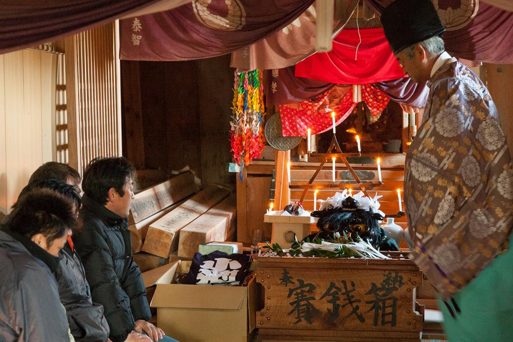 五十鈴神社神殿内
