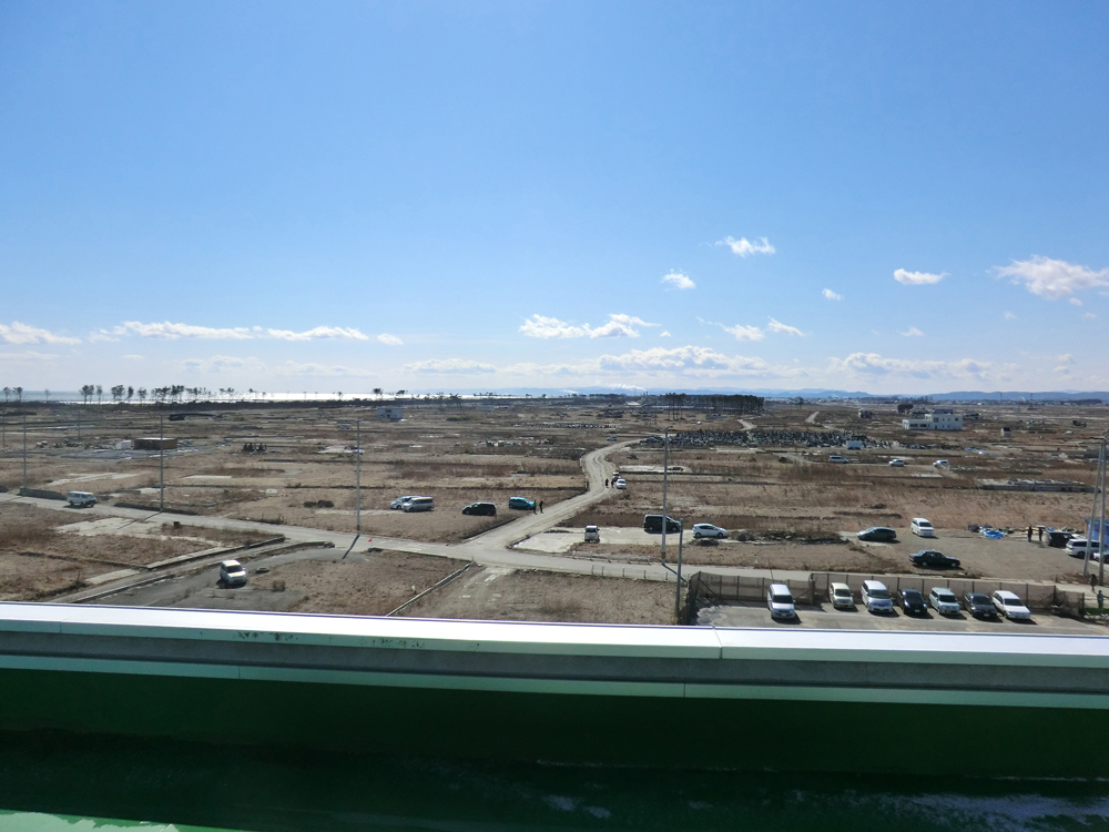 屋上から見た荒浜の風景