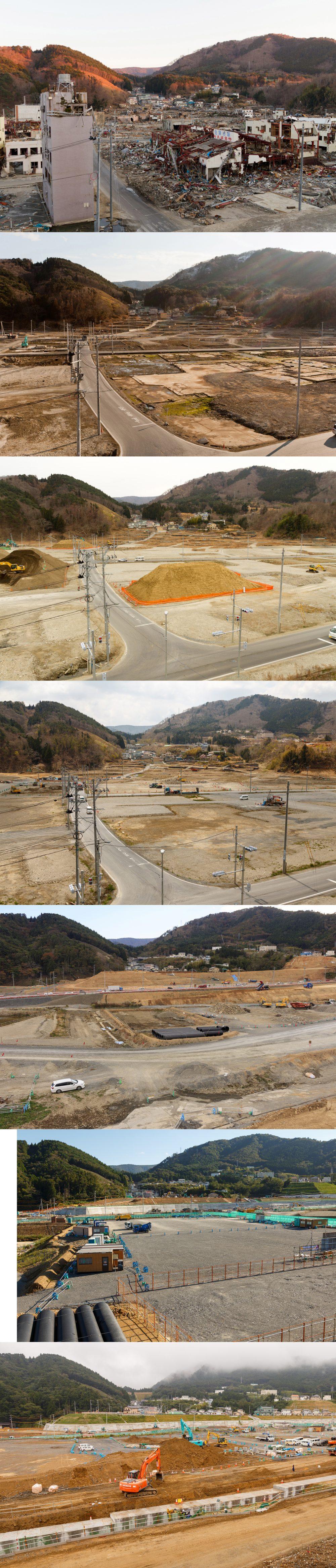 女川町地域医療センター南側(黄金町方向)