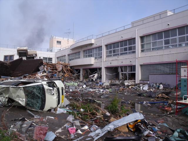 2011年3月12日の中野小学校