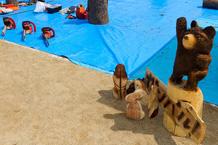 Okada Summer Festival: Chainsaw Carving