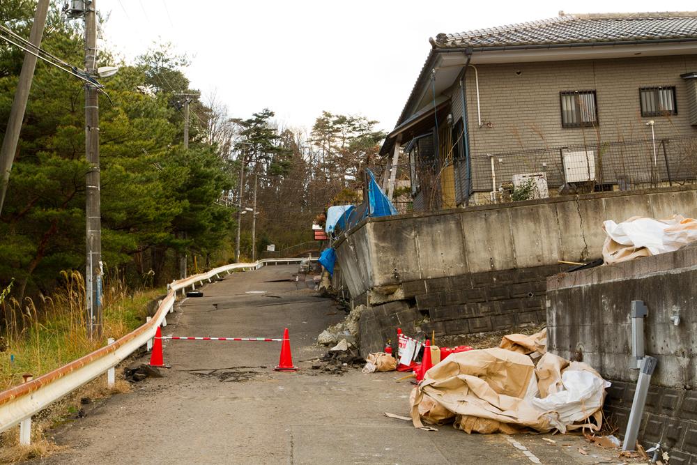 仙台市内地滑り被害地域