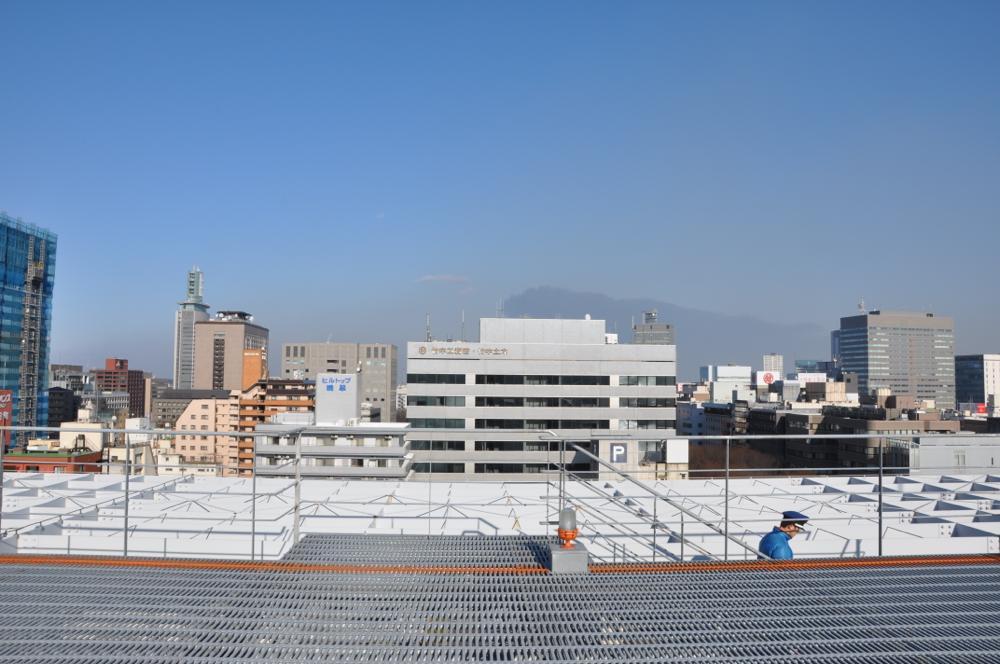 仙台港火災の黒煙が見えた