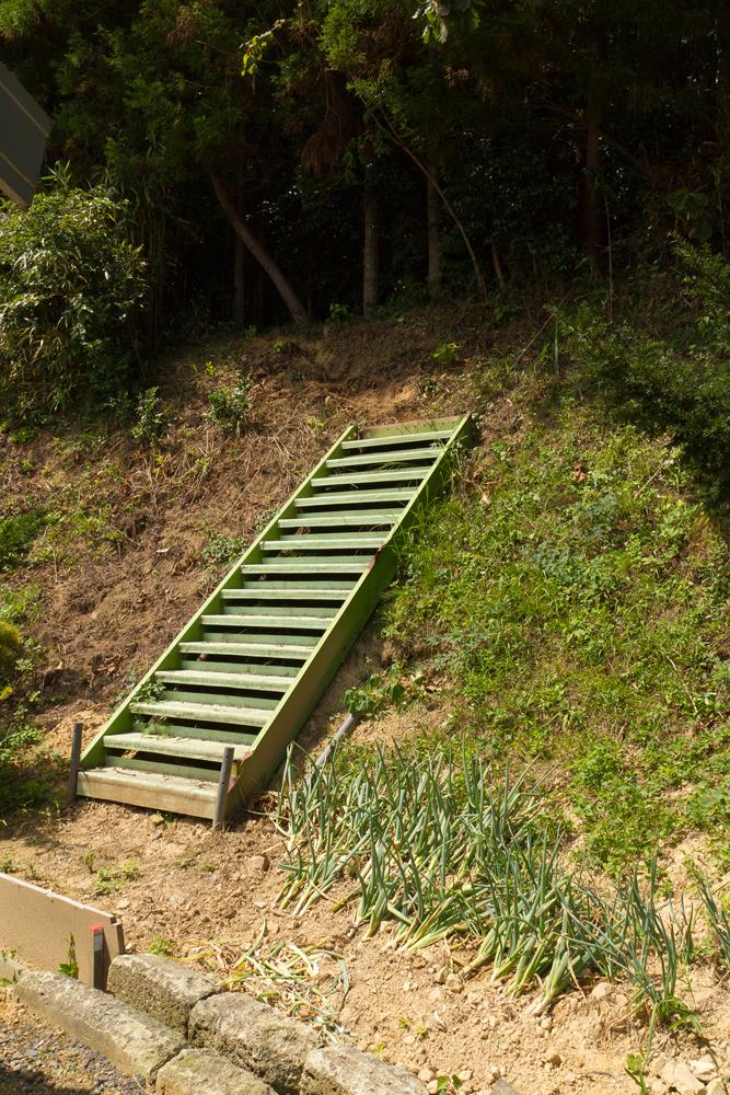裏山に設置した階段