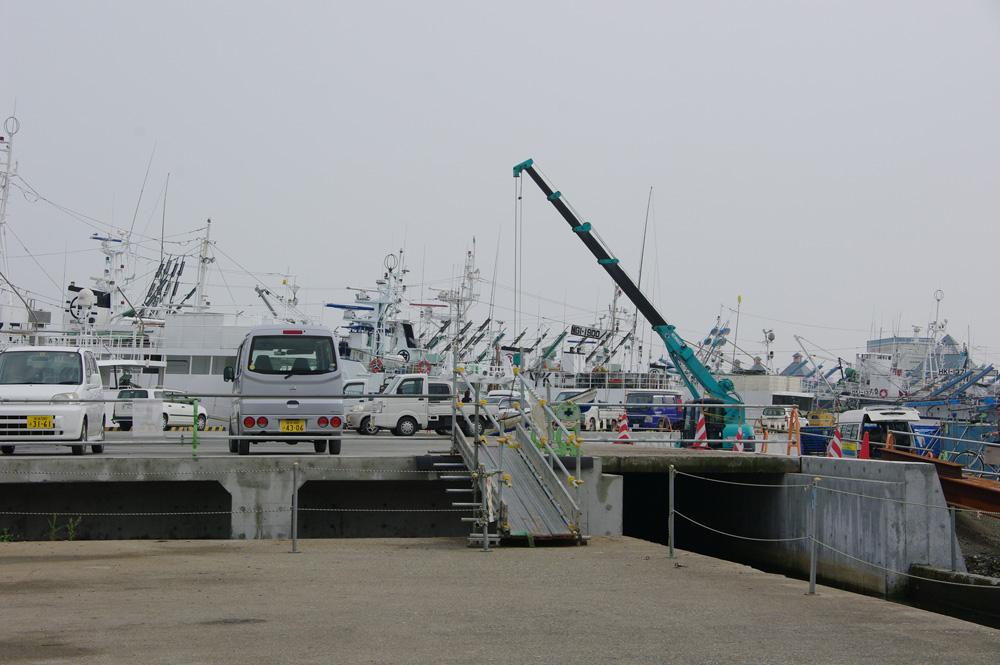 2013年8月気仙沼港出港岸壁