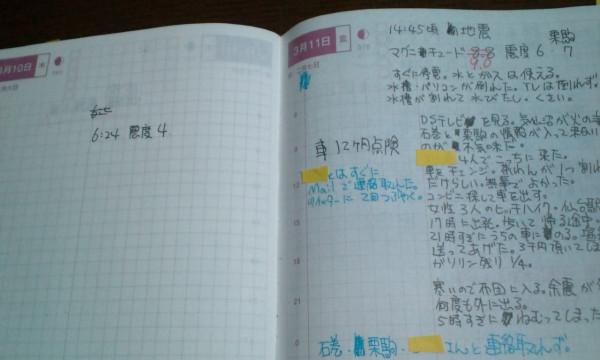 前日と当日の日記