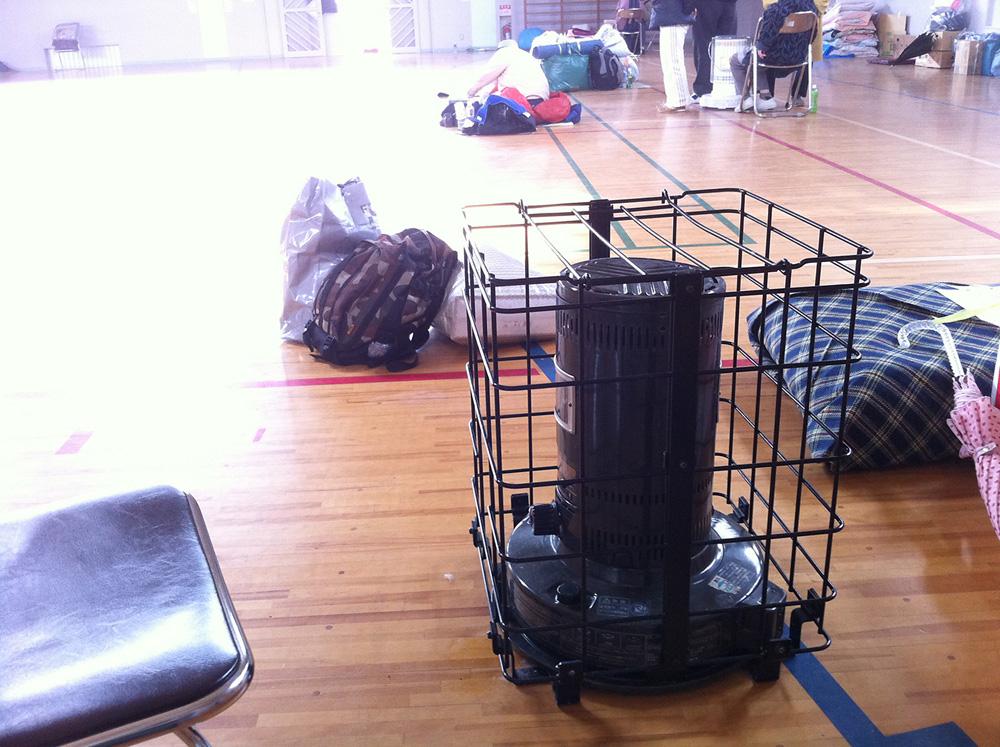 避難所として使われた小松島小学校