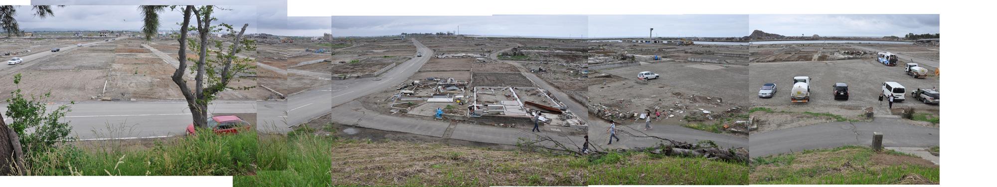 閖上日和山定点観測(西北西-東南東)2011年6月