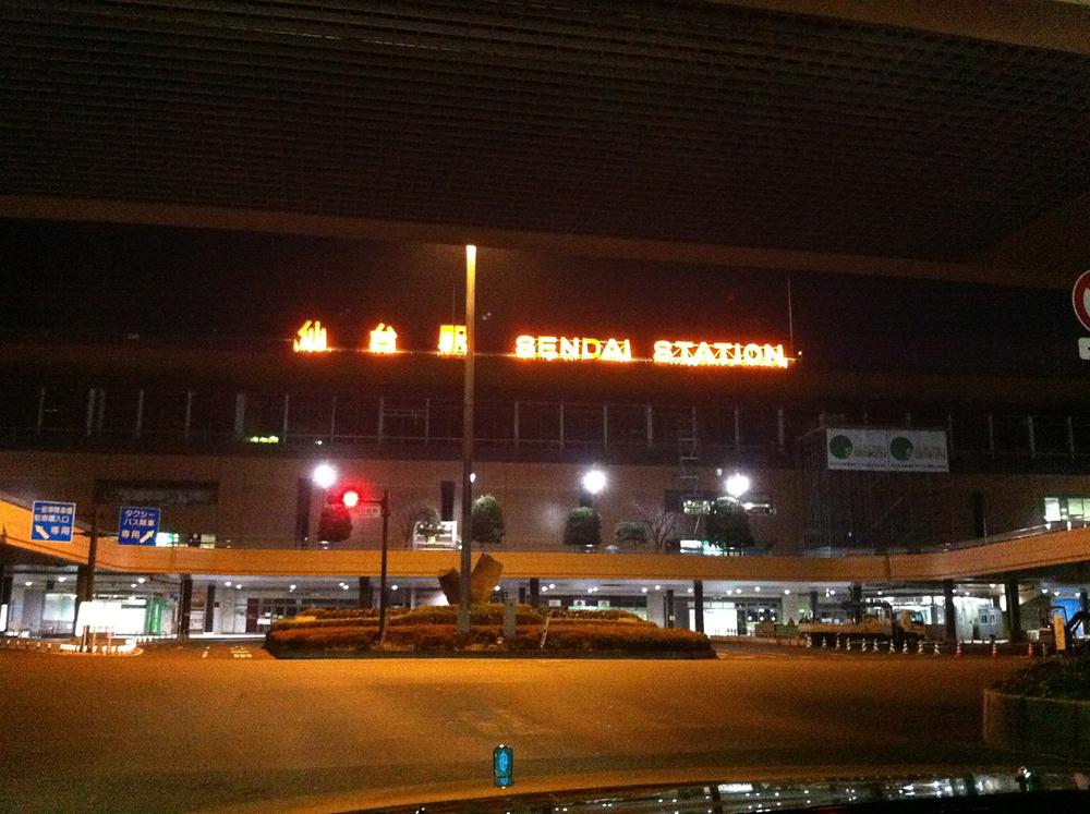 真っ暗な街を見て震災のあった仙台に戻ってきたと実感
