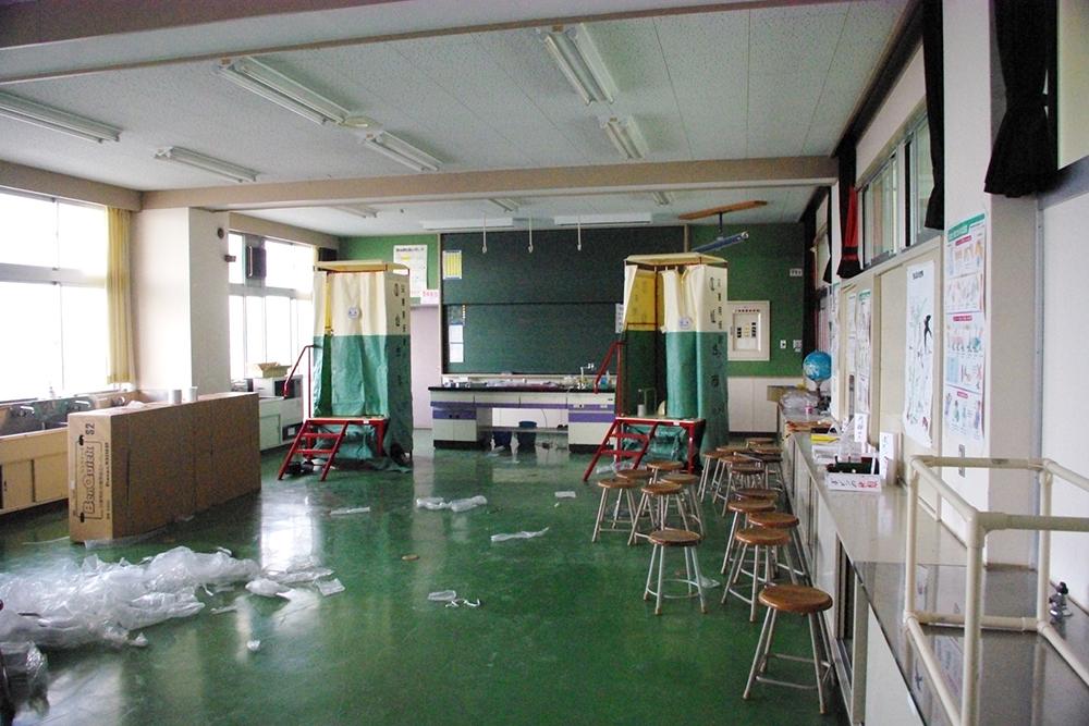 仙台市立荒浜小学校定点観測写真09〈3階理科室〉