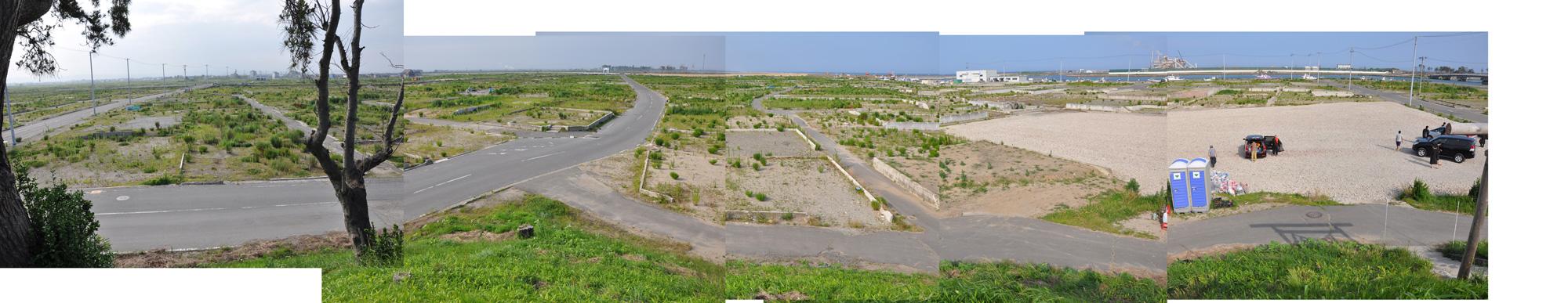 閖上日和山定点観測(西北西-東南東)2012年7月