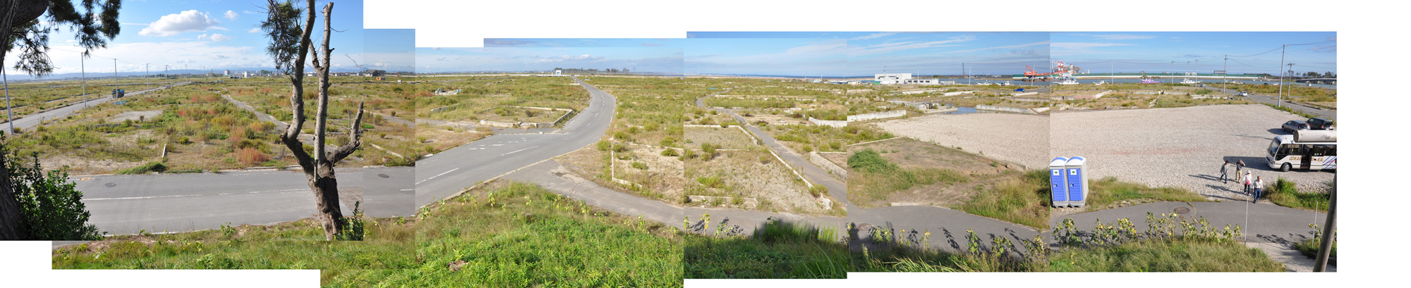 閖上日和山定点観測(西北西-東南東)2012年9月