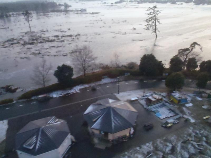 冒険広場での津波の記録