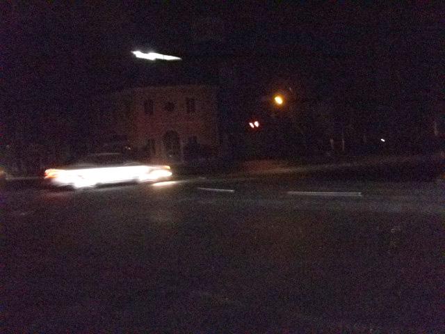 20:20 青葉通り・晩翠通り交差点 渋滞は和らいでいた