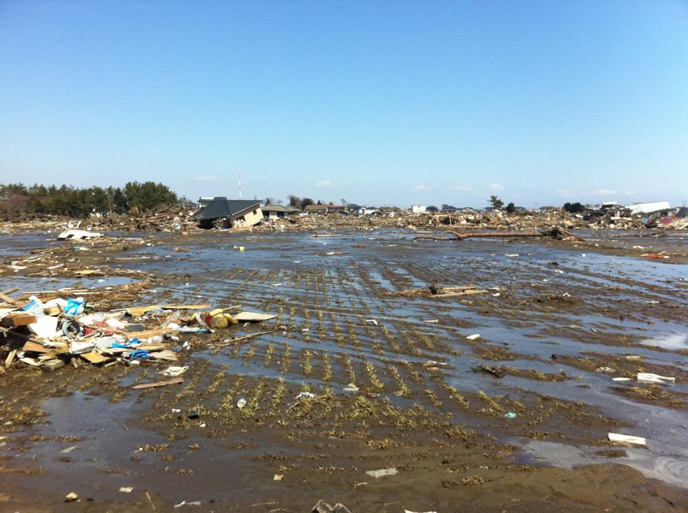 初めて訪れた津波被災地域