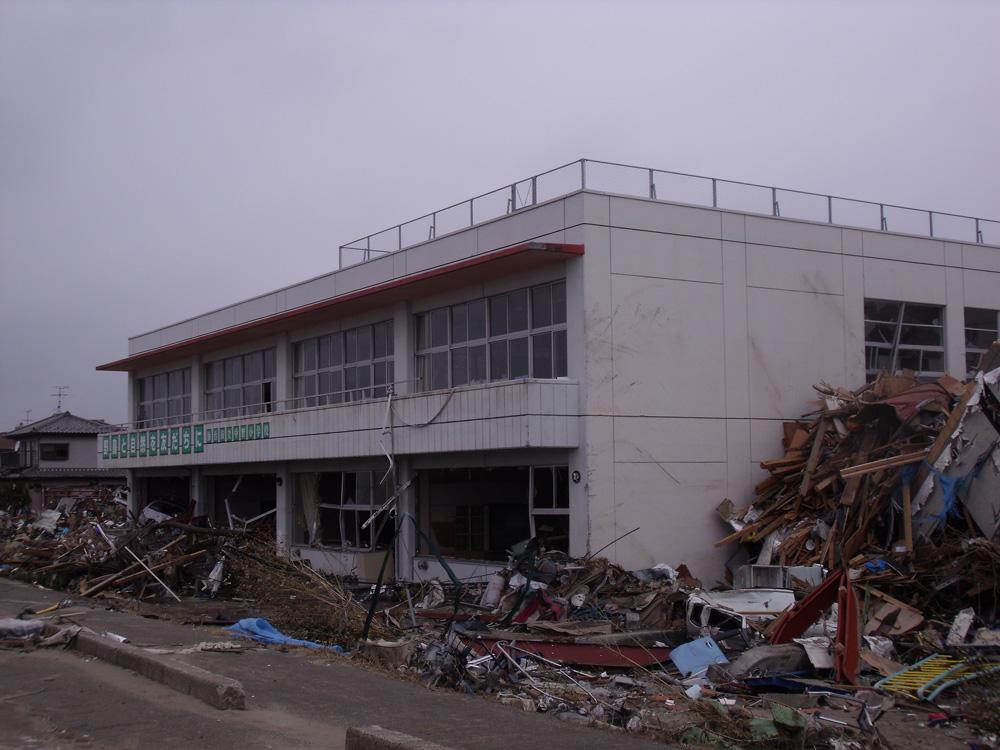中野小学校_9_七北田川に面していた校舎